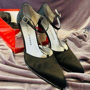 Vintage Charles Jourdan Black Diamond Heels